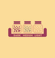 flat icon on background coffee jar of beans vector image vector image