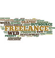 Freelance services and outsource text background