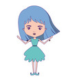 girly fairy without wings and light blue short vector image vector image