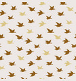 golden beige swallow birds seamless pattern vector image
