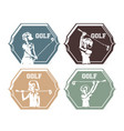 golf players seals stamps vector image vector image