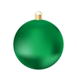 Green Christmas ball on white background vector image