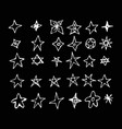 hand drawn star doodle design vector image