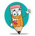 Happy Pencil vector image vector image