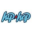 hip hop lettering in graffiti style vector image vector image