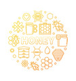 honey round yellow outline creative vector image vector image