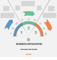 Infographic for success business project template vector image vector image