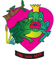 kiss your frog vector image