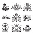 labels and badges of winter sport hockey vector image vector image