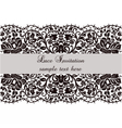 Lace Invitation card with delicate ornament vector image vector image