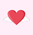 little flying love heart wings graphic vector image vector image