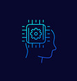 machine learning and artificial intelligence ai vector image