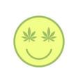 marijuana smiley face cannabis smile smiling vector image