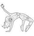 Modern dancer coloring vector image vector image