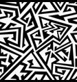 monochrome maze seamless texture vector image vector image