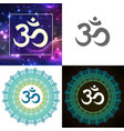 om symbol of hindu deity god shiva set vector image