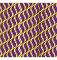 Optical seamless pattern Purple hooks move on vector image vector image