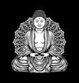 outline buddha amitabha vector image