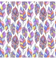 pattern with colorful abstract feathers vector image vector image