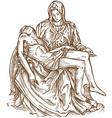 pieta statue of Michelangelo vector image vector image
