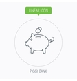 Piggy bank icon Money economy sign vector image vector image