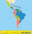 political map latin america vector image vector image