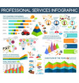 professions ans service infographics vector image vector image