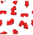 Red direction arrows pattern cartoon style vector image vector image