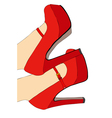 Red shoes and elegant vector image vector image
