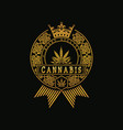 royal golden cannabis vector image vector image