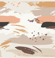 seamless pattern templates with abstract shapes vector image