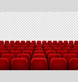 seats at empty movie hall or seat chair for film vector image vector image