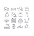 set 16 different black and white sport icons vector image vector image