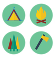 Set of camping iconsPrint vector image vector image