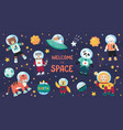 space animals cute cartoon trendy baanimal vector image
