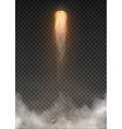space rocket smoke isolated on transparent vector image vector image