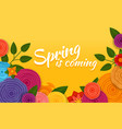 spring is coming poster abstract flowers