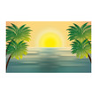 summer holidays beach scene vector image