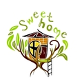 sweet home on the tree vector image