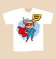 t-shirt print design superhero granny vector image vector image