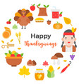 thanksgiving icon arrange as circle shape and vector image vector image
