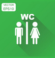 toilet restroom icon business concept man and vector image vector image