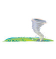 tornado on field isolated vector image vector image
