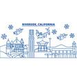 usa california riverside winter city skyline vector image vector image
