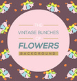Vintage Flowers Background vector image