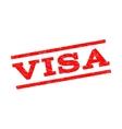 Visa Watermark Stamp vector image vector image