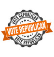 vote republican stamp sign seal vector image vector image