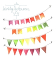 Watercolor flags garlands set vector image
