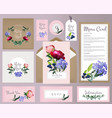wedding cards invitation template with beautiful vector image
