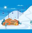 winter skiing resort vector image